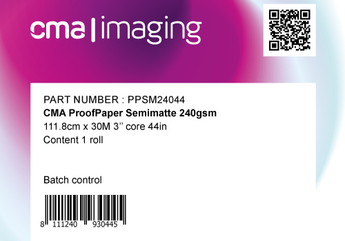PPSM240 - 44in x 98ft - 1,118m x 30m: CMA Contract Proofing Paper 240g