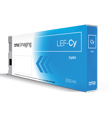 CO-LEF Cyan Eco-UV Ink 220ml: CMA ColorPack Ink for Roland LEF