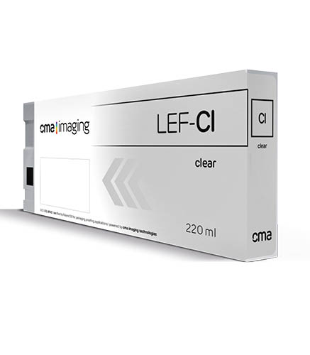 CO-LEF Clear Eco-UV Ink 220ml: CMA ColorPack Ink for Roland LEF