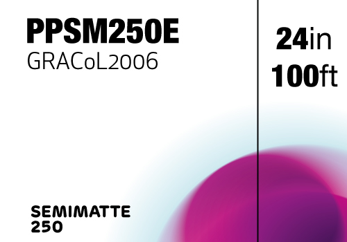 PPSM250E - 24in x 100ft - 61cm x 30.5m: CMA Contract Proofing Semimatte 250gsm